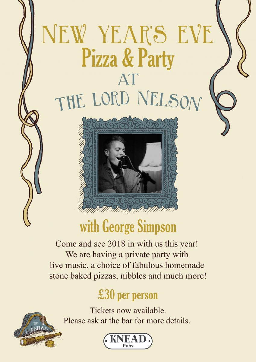 Pizza & Party at The Lord Nelson