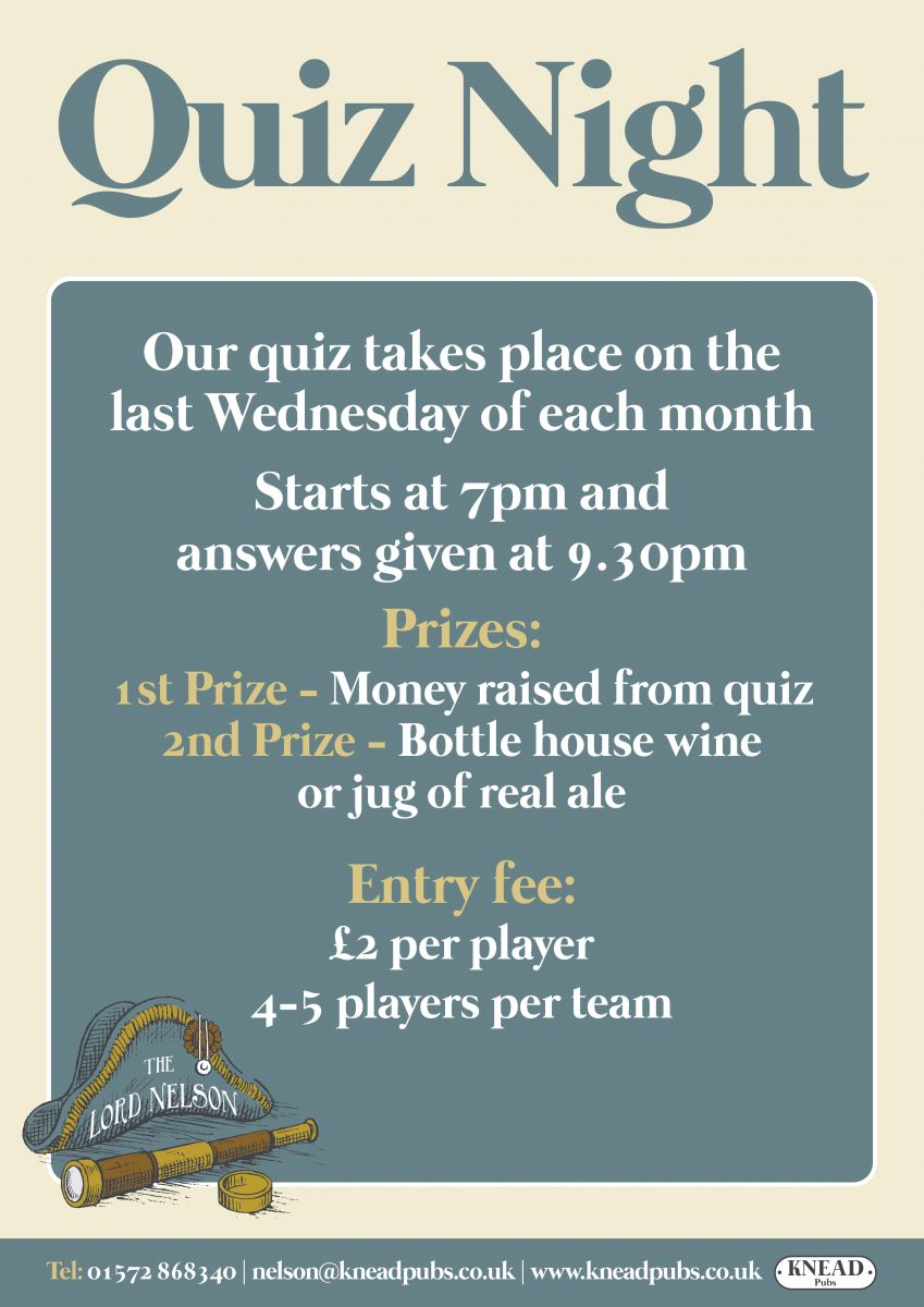 Quiz Night at The Lord Nelson